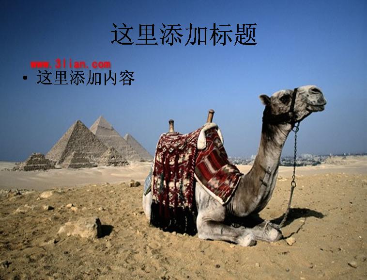 世界奇迹建筑金字塔ppt模板免费下载_135781- wps在线