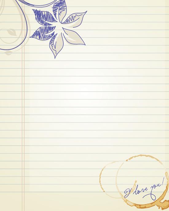 钢笔信纸模板免费下载_144462- wps在线模板图片